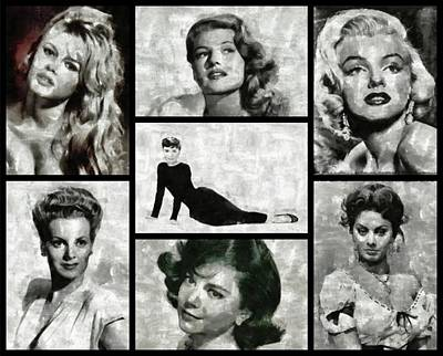 Actors Royalty-Free and Rights-Managed Images - Screen Sirens - Hollywood Legendary Actresses by Esoterica Art Agency