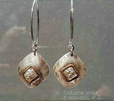Jewelry - Screen Work Earrings 2 by Brenda Berdnik