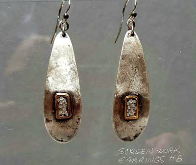 Jewelry - Screen Work Earrings 8 by Brenda Berdnik