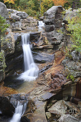 Screw Auger Falls - Maine  Art Print