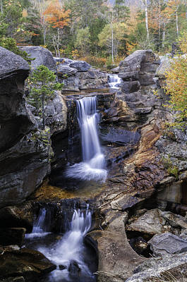 Photograph - Screw Auger Falls - Grafton Notch Maine  by Expressive Landscapes Nature Photography