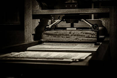 Photograph - Screw Printing Press by Greg Collins