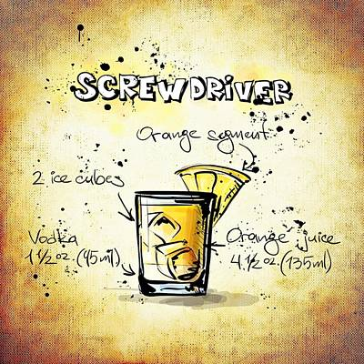 Screwdriver Print by Movie Poster Prints