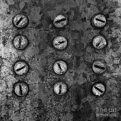 Photograph - Screws On Utility Box by Dutch Bieber