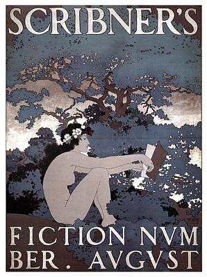 Mixed Media - Scribner's Magazine - Fiction - Magazine Cover - Vintage Art Nouveau Poster by Studio Grafiikka