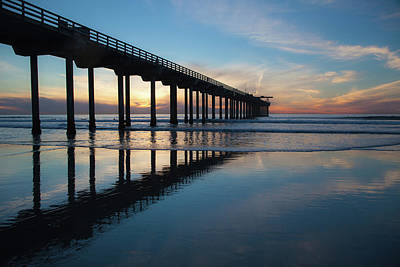 Photograph - Scripps Pier At Sunset by Cliff Wassmann