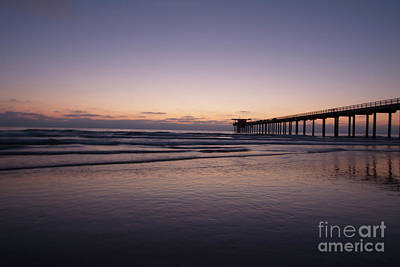 Photograph - Scripps Pier At Sunset by Ruth Jolly