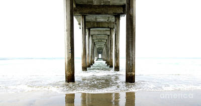 Photograph - Scripps Pier California by Bob Christopher