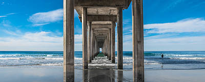 Robert Bellomy Royalty-Free and Rights-Managed Images - Scripps Pier La Jolla California by Robert Bellomy