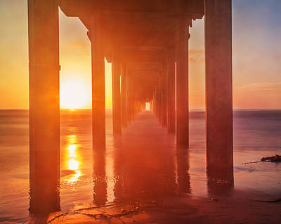 Scripps Pier Sunset Art Print