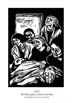 Painting - Scriptural Stations Of The Cross 14 - The Body Of Jesus Is Laid In The Tomb - Jljlt by Julie Lonneman