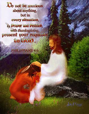 Scripture Art   Native Prayer Art Print