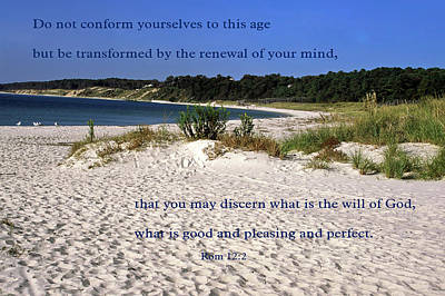 Photograph - Scripture On The Shore by Sally Weigand