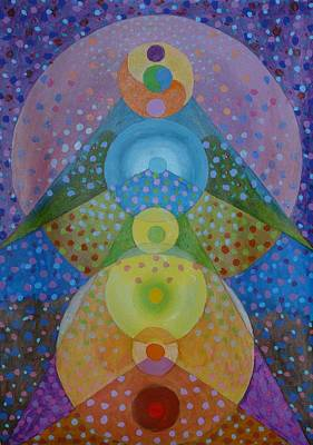 Chakra Painting - Scroll Painting 011-15 by Glen River