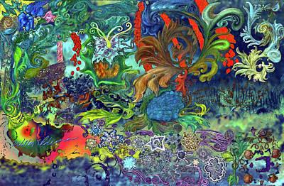 Scrollific 1 Undersea Art Print