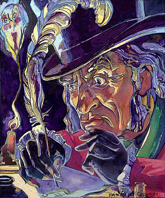Art Print featuring the painting Scrooge And Marley's Ghost by Tim  Heimdal
