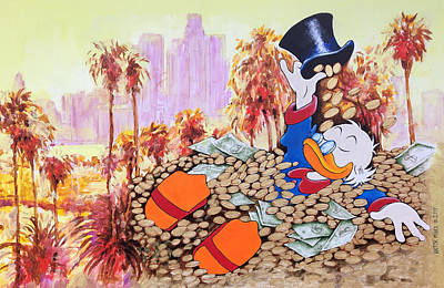 Scrooge In La Art Print