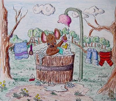 Drawing - Scrub-a-dub by Megan Walsh
