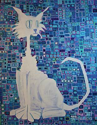 Painting - Scruffy The Cat by Donna Howard