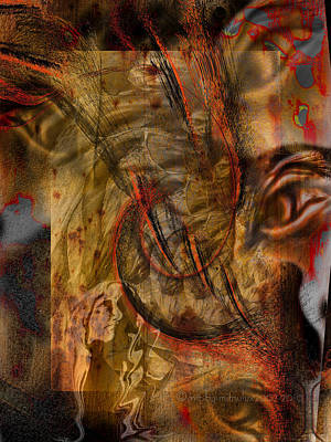 Haunted Digital Art - Scrutinized by Mimulux patricia no No