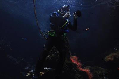 Photograph - Scuba Diving by Puzzles Shum