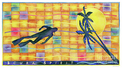 Painting - Scuba Spirit by Amy Kirkpatrick