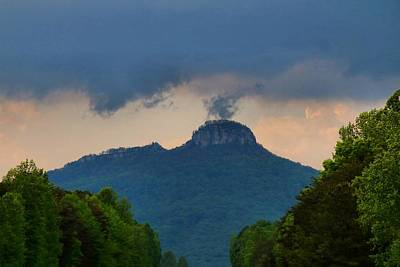 Photograph - Scud Clouds Over Pilot Mountain by Kathryn Meyer
