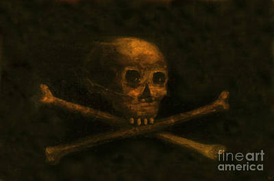 Scull And Crossbones Art Print by David Lee Thompson