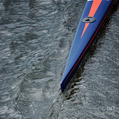 Athletes Royalty-Free and Rights-Managed Images - Scull Blue at the Regatta by Jason Freedman