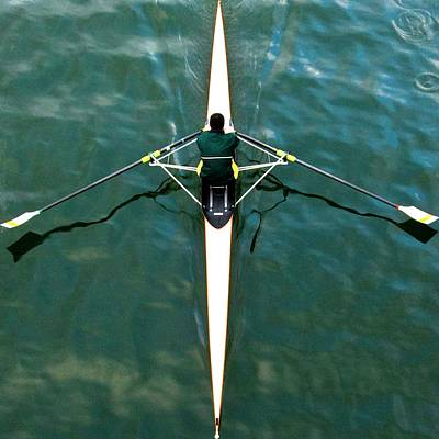 Oars Photograph - Scull by Gerard Hermand