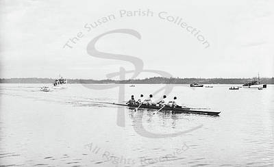 Photograph - Sculling Race At The Olympia Country Club, August 28, 1936 by Vibert Jeffers