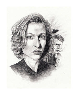 The X-files Drawing - Scully by Emma Olsen