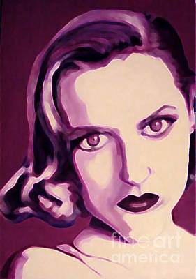 Gillian Anderson Painting - Scully X-files by Margaret Juul