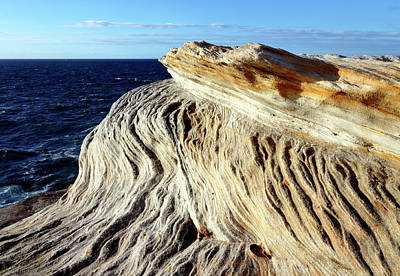 Photograph - Sculpted Clifftops 02 by Nicholas Blackwell