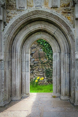 Photograph - Sculpted Portal To Irish Spring Garden by James Truett