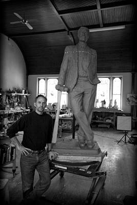 Artist Working Photograph - Sculptor 1 by Nathan Larson