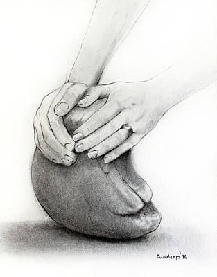 Sculptor's Hands Art Print
