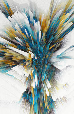 Painting - Sculptural Series Digital Painting 08.072311ex490l by Kris Haas