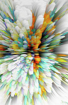 Digital Art - Sculptural Series Painting23.102011windblastsccvsext4100l by Kris Haas