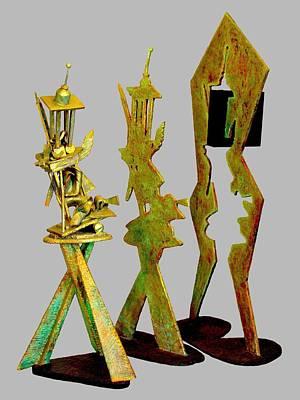 Sculptural Suite In Three Movements Original by Al Goldfarb