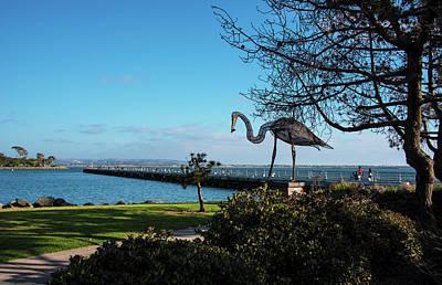 San Diego Artist Photograph - Sculpture At Chula Vista Marina Park by Kenneth Roberts