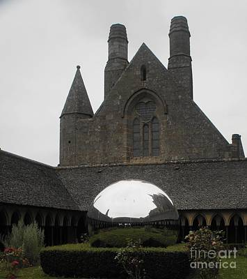 Photograph - Sculpture At Mont St Michel by Therese Alcorn