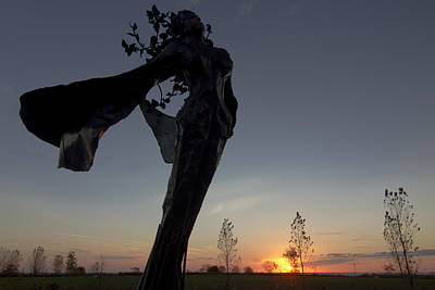 Sculpture At Sunrise Art Print by Sven Brogren