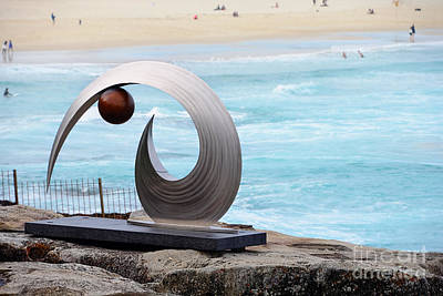 Photograph - Sculpture By The Sea - Balance And Curves  - Photograph By Kaye Menner by Kaye Menner