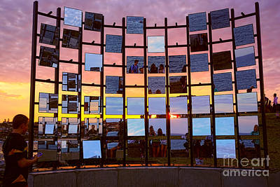 Bondi Beach Photograph - Sculpture By The Sea - Half Gate By Kaye Menner by Kaye Menner