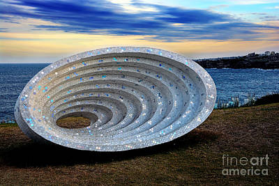 Photograph - Sculpture By The Sea - Space Time Continuum By Kaye Menner by Kaye Menner