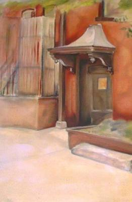 Painting - Sculpture Courtyard by Denise Fulmer
