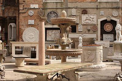Sculpture Garden In Venice Art Print by Michael Henderson