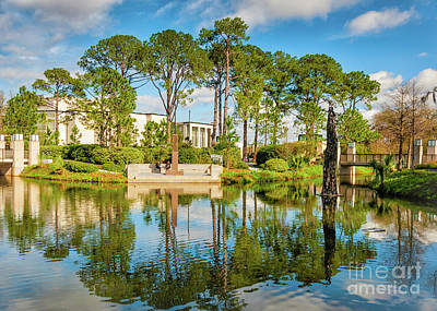 Photograph - Sculpture Garden Lagoon -city Park New Orleans by Kathleen K Parker