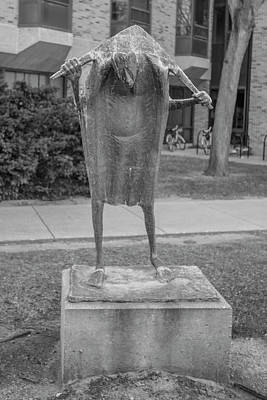 Photograph - Sculpture Notre Dame Black And White  by John McGraw